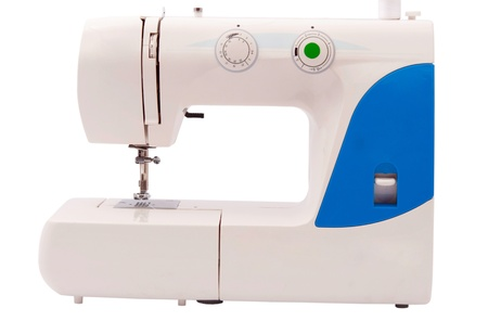 sewing machine on a white background photo