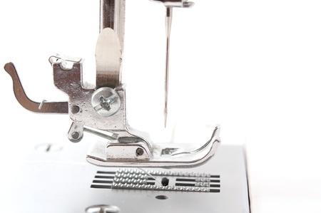 sewing machine monochrome on a white background photo