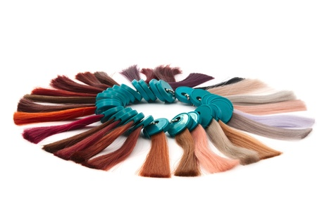 descriptive colors:  hair samples of different colors