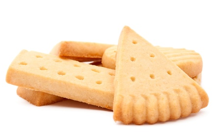 biscuits on a white background photo