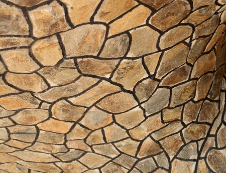 filming point of view: Brick stone wall close up