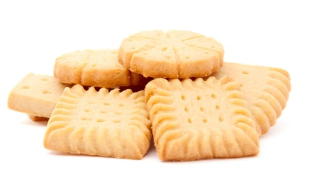 biscuits on a white background Stock Photo - 9982828