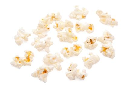 kernel: popcorn on white background
