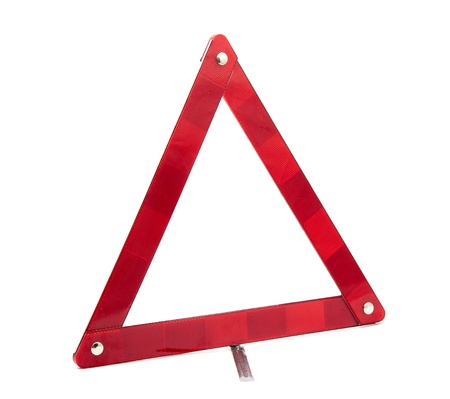 emergency sign on a white background photo