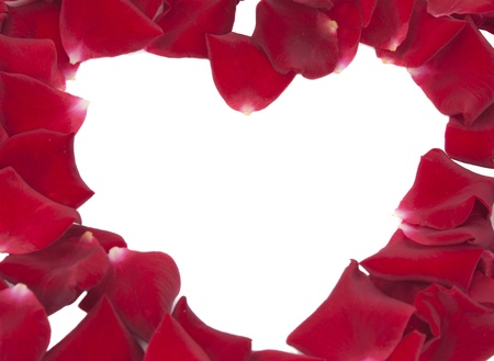 heart of red rose petals photo
