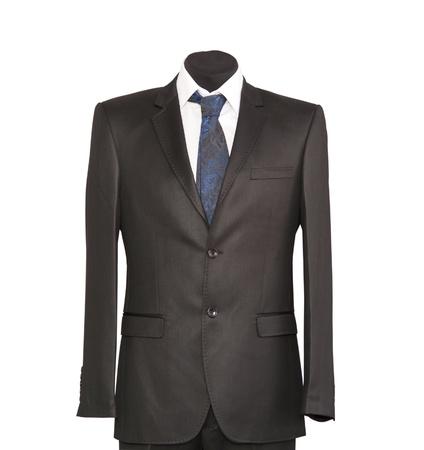 traje:  chaqueta y corbata en un fondo blanco