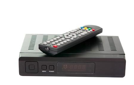 Satellite TV on a white background photo
