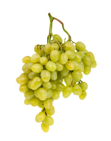 pasas: racimo de uvas sobre un fondo blanco