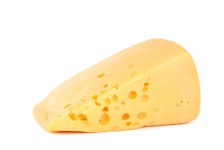 monterrey: a piece of cheese on a white background
