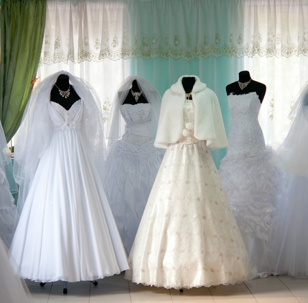 bridal dress: wedding dresses in the store