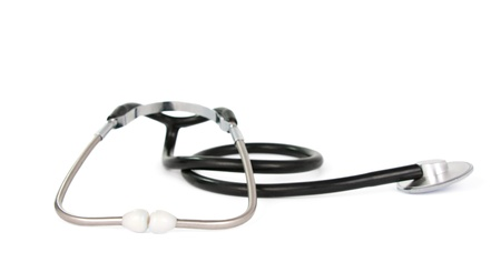 stethoscope on white background Stock Photo - 11066079