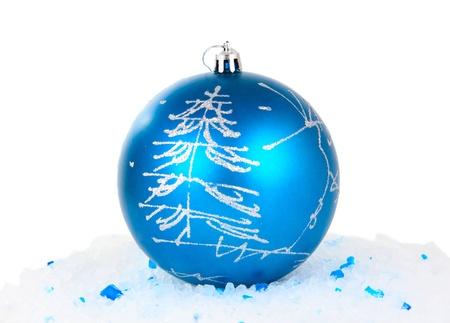 Christmas balls on a white background photo