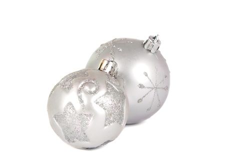 Christmas balls on a white background Stock Photo - 11066084