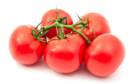 ripened: tomatoes on a white background Stock Photo