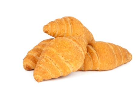 french bakery: croissants on white background