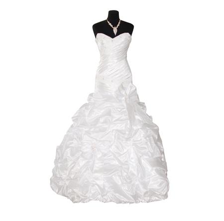 EVENING DRESS: vestido de novia aisladas sobre fondo blanco