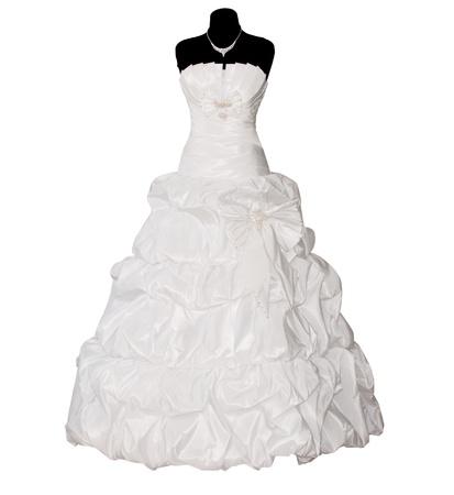 wedding dress isolated on white background photo