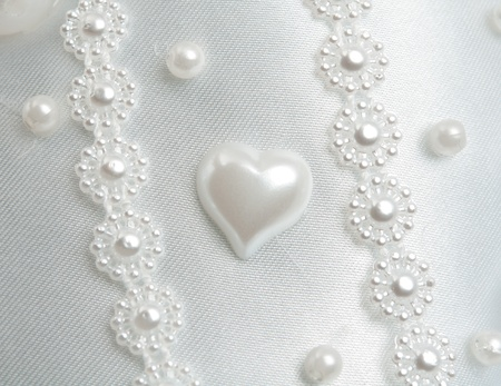 texture wedding white fabric for the background photo
