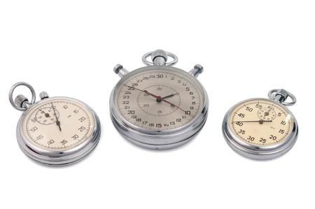 stopwatch isolated on white background photo