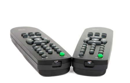 remote control isolated on white background photo