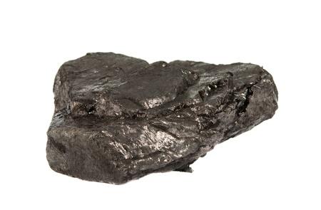 coal isolated on white background photo
