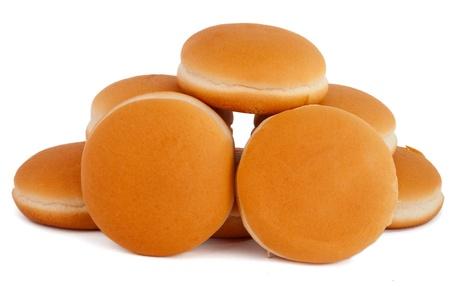 hamburger buns isolated on white background Stock Photo