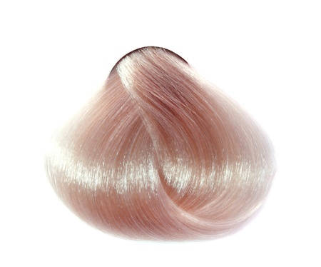 strand of hair: strand of hair color on a white background