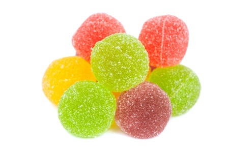 gelatine: jelly candies isolated on white background Stock Photo