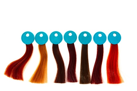 hair samples of different colors Stock Photo - 12360740