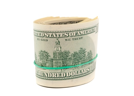 dollars isolated on a white background photo