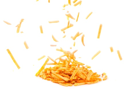 frites: French fries on a white background