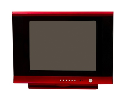 TV isolated on a white background photo