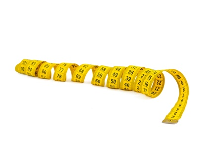 measuring tape isolated on white background photo