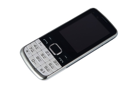 handsfree telephones: mobile phone on a white background