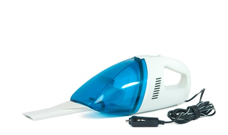 domestics: vacuum cleaner for car isolated on white background
