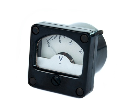 voltmeter isolated on a white background photo