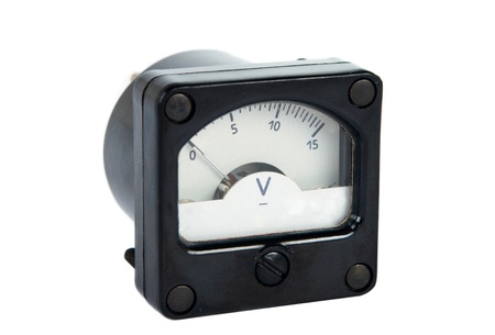 voltmeter: voltmeter isolated on a white background