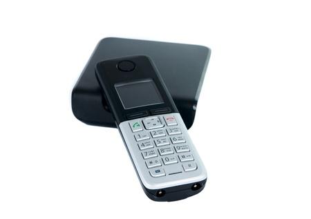 Wireless phone isolated on white background photo