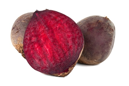 beets isolated on white background photo