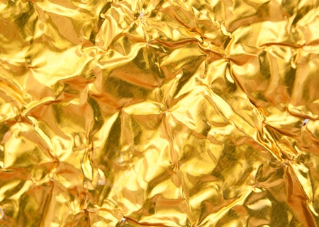 texture of the gold foil background photo