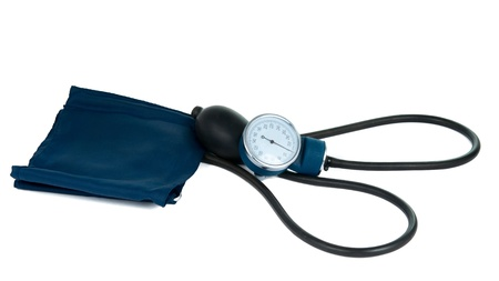 aneroid: tonometer on a white background
