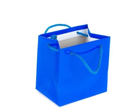 blue bag isolated on white background Stock Photo - 13013785