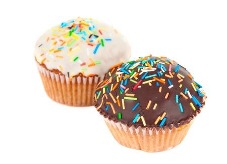 cupcake isolated on white background photo