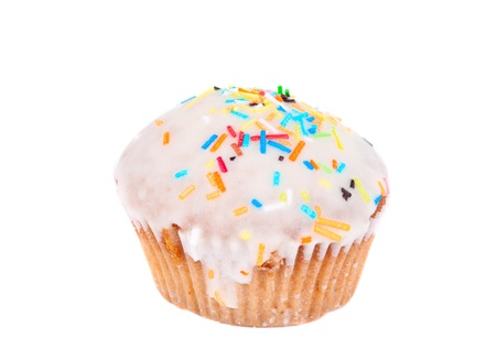 cupcake isolated on white background Stock Photo - 13174648