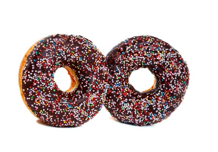 Doughnuts isolated on white background photo