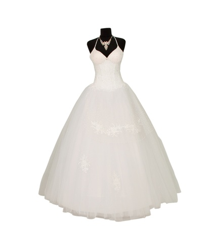 wedding dress isolated on white background