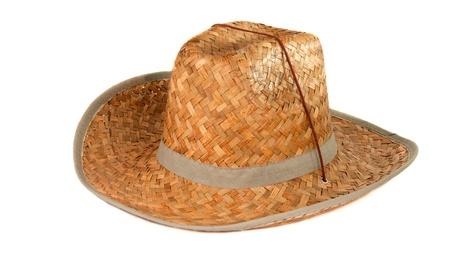 straw hat isolated on white background Stock Photo - 13640295