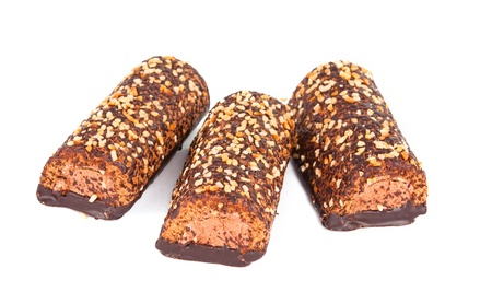 chocolate cake isolated on white background Stock Photo - 13698277