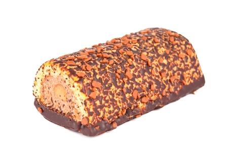 chocolate cake isolated on white background Stock Photo - 13698281