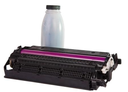Cartridge isolated on white background photo